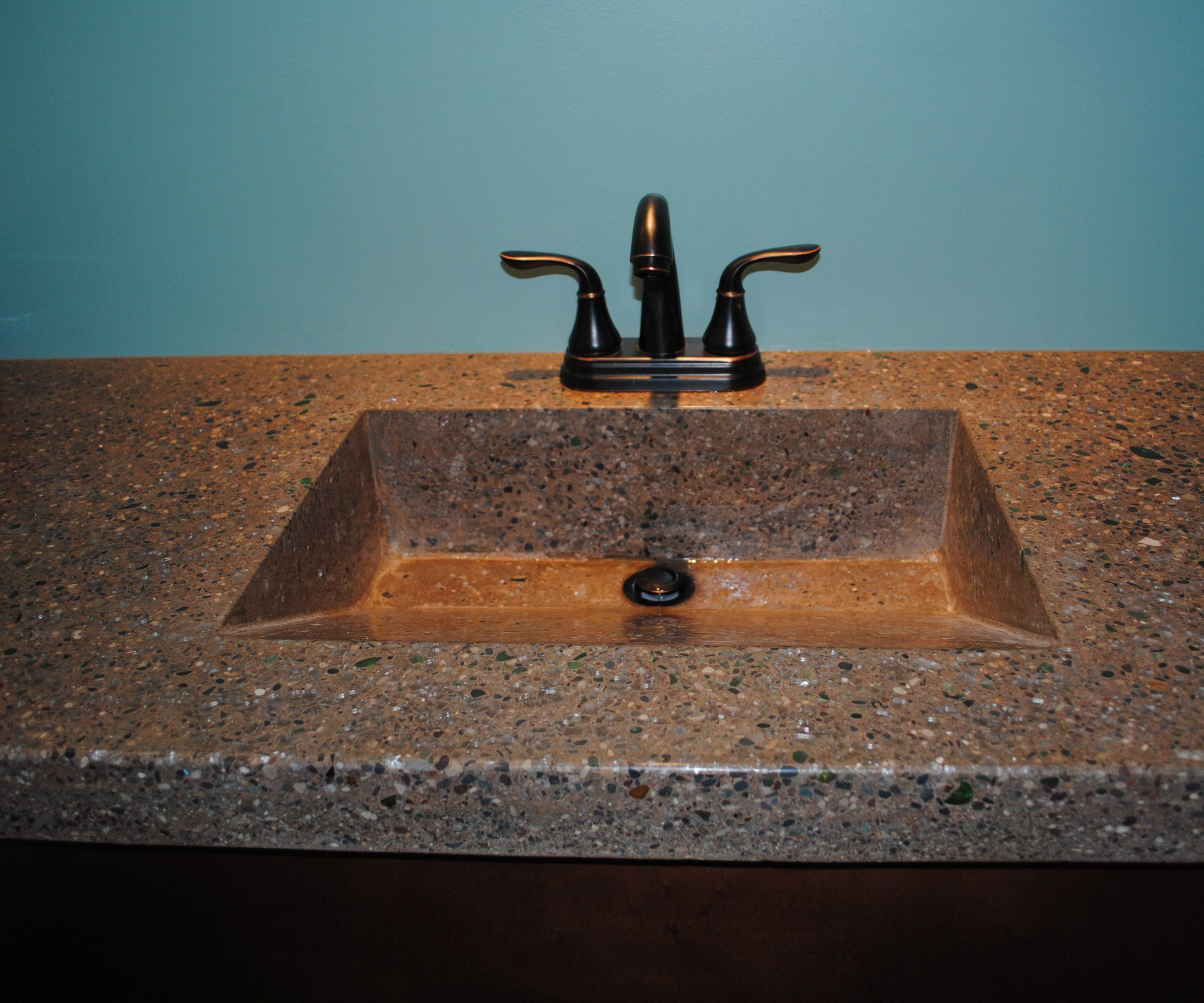 Concrete Countertop With Integrated Sink And Fiber Optics 9 Steps Instructables