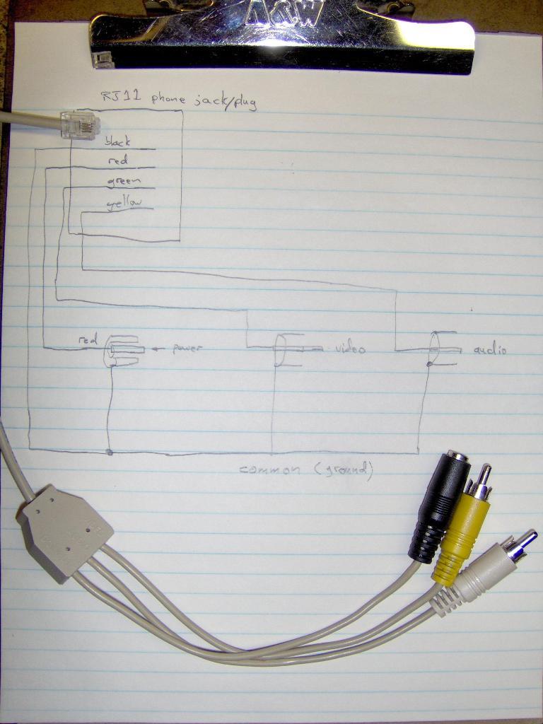 Security Camera Wiring Diagram : security, camera, wiring, diagram, Surveillance, Camera,, RJ11E?, Please, Instructables