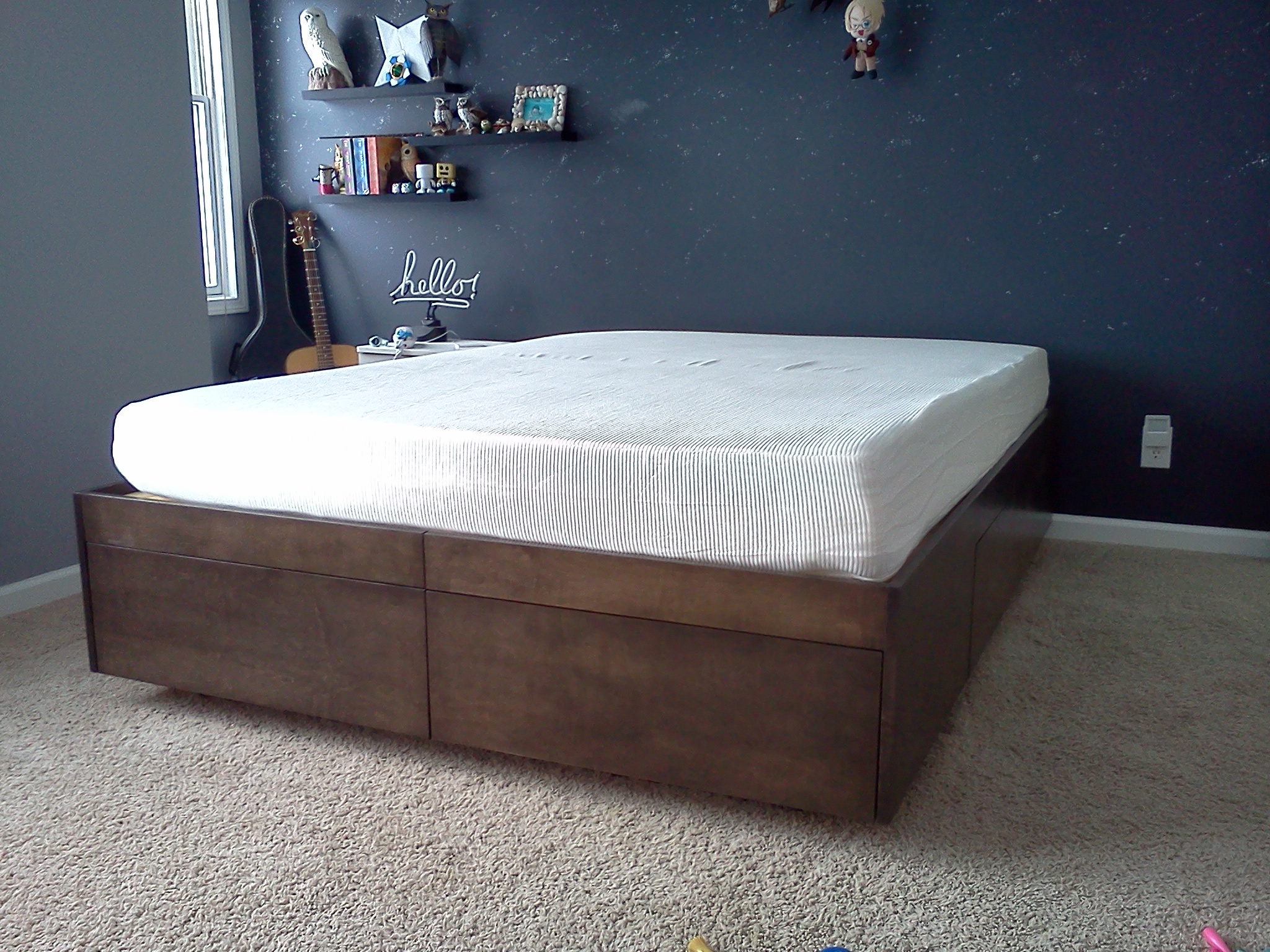 platform bed with drawers 8 steps