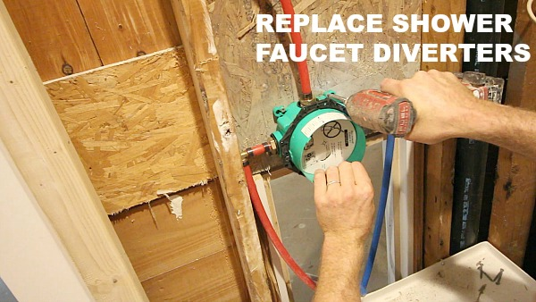 how to replace shower faucet diverters