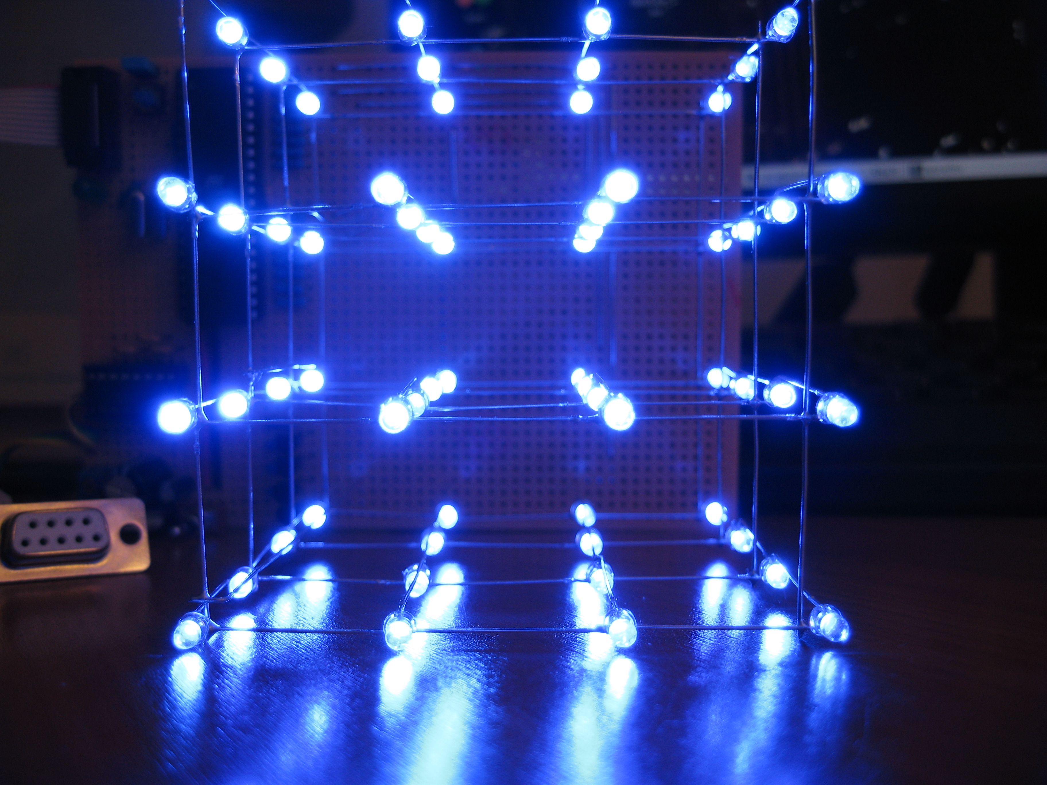 led cube 4x4x4 11 steps with