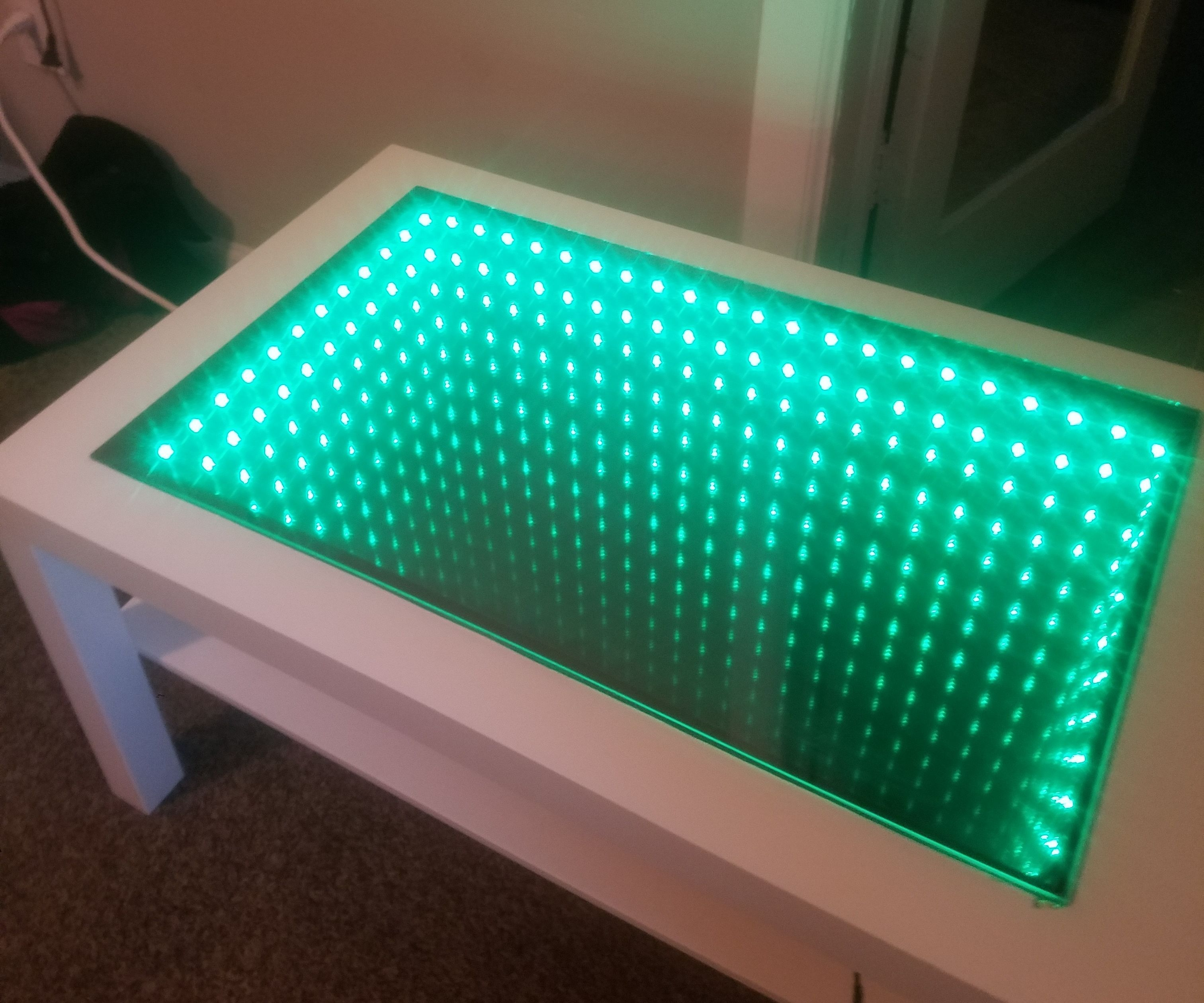 infinity mirror coffee table 5 steps