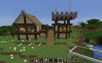 How to Build a Medieval House in Minecraft : 11 Steps Instructables