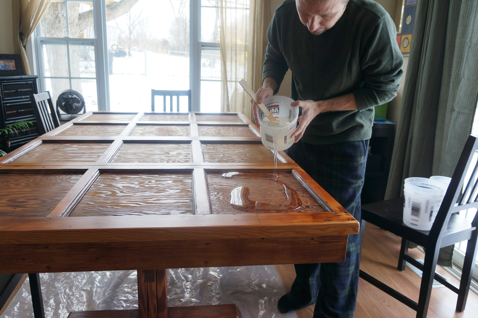 garage door table 7 steps with