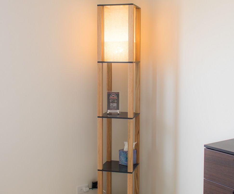 shelf floor lamp 5 steps with