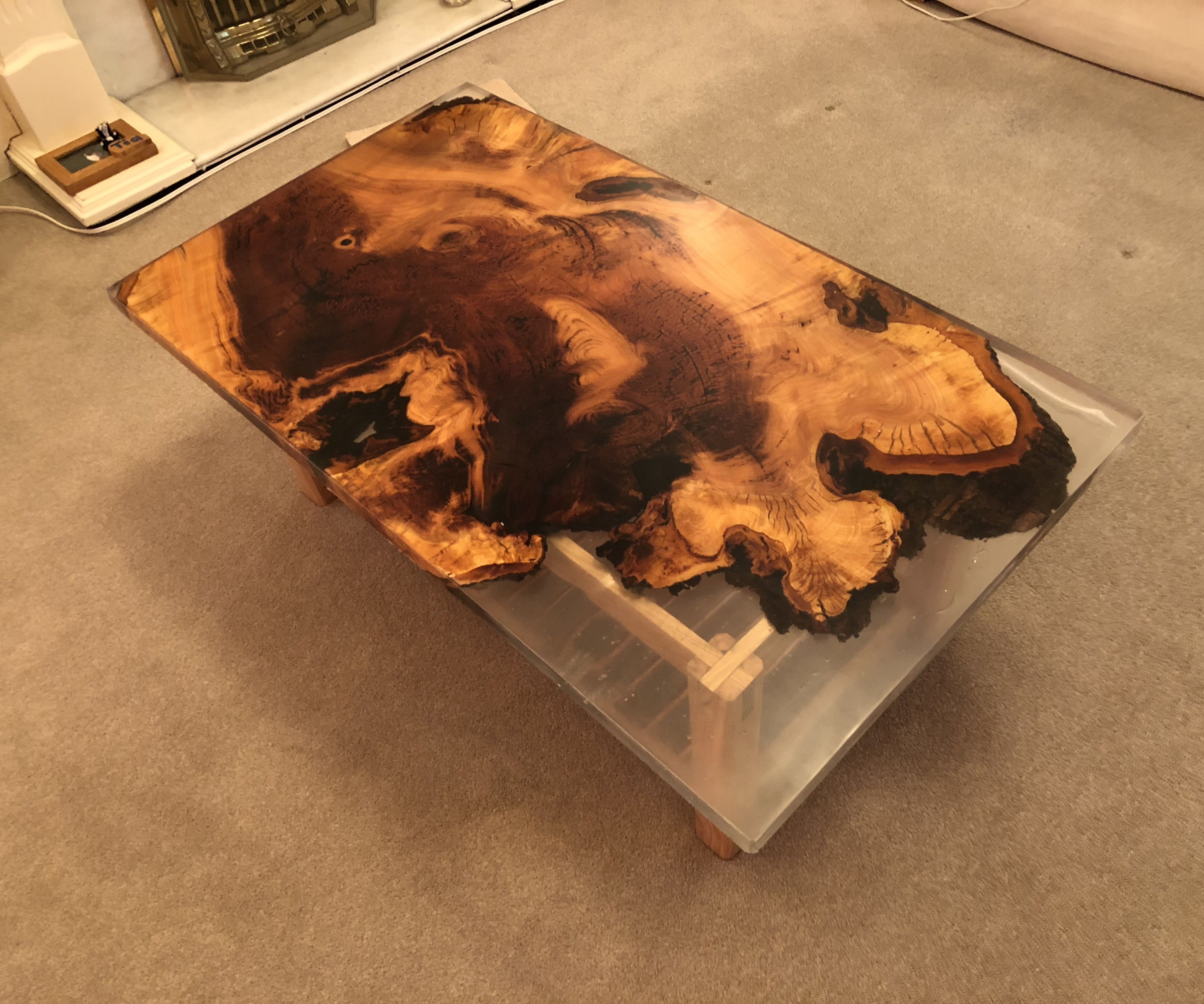 live edge coffee table 18 steps with