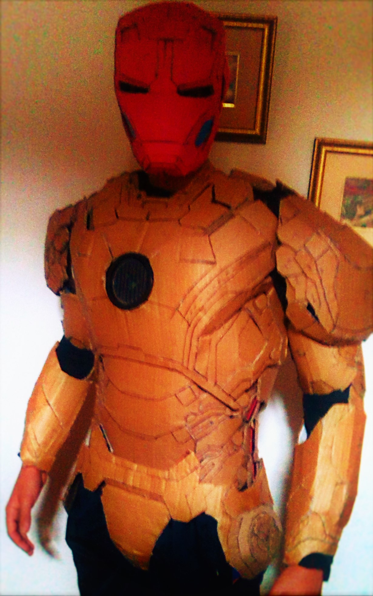 Iron Man Cardboard : cardboard, Awesome, Cheap,, 42-43, Armor, Steps, (with, Pictures), Instructables