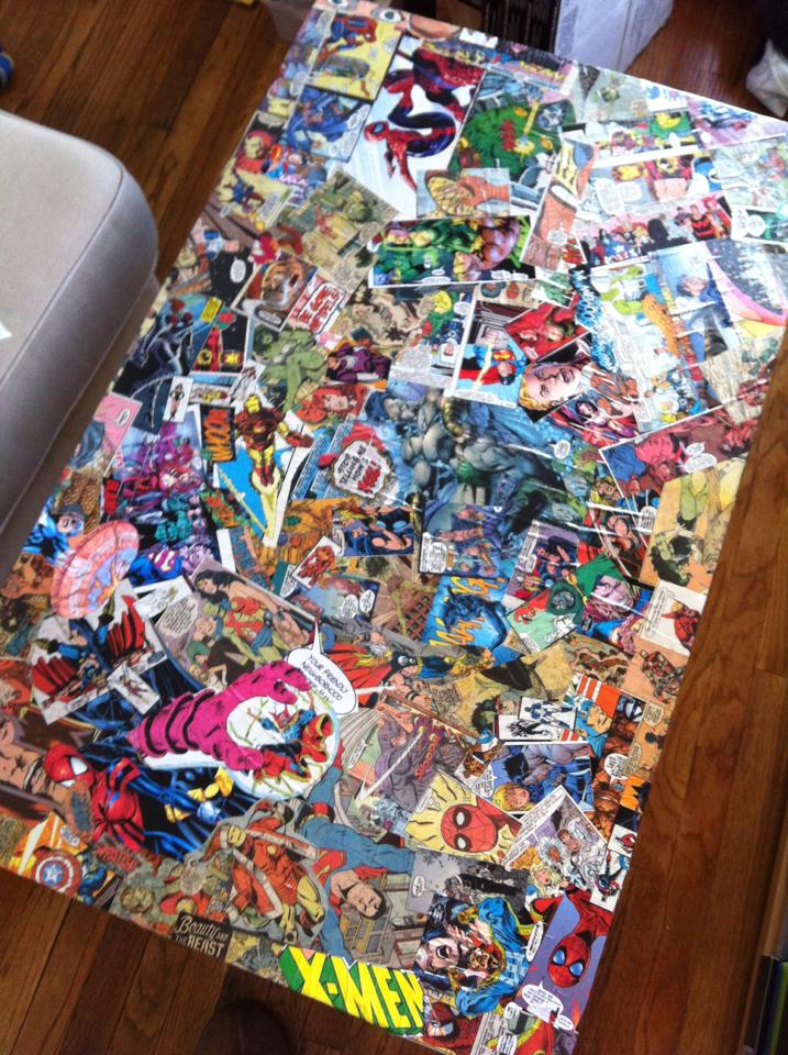 comic book coffee table instructables