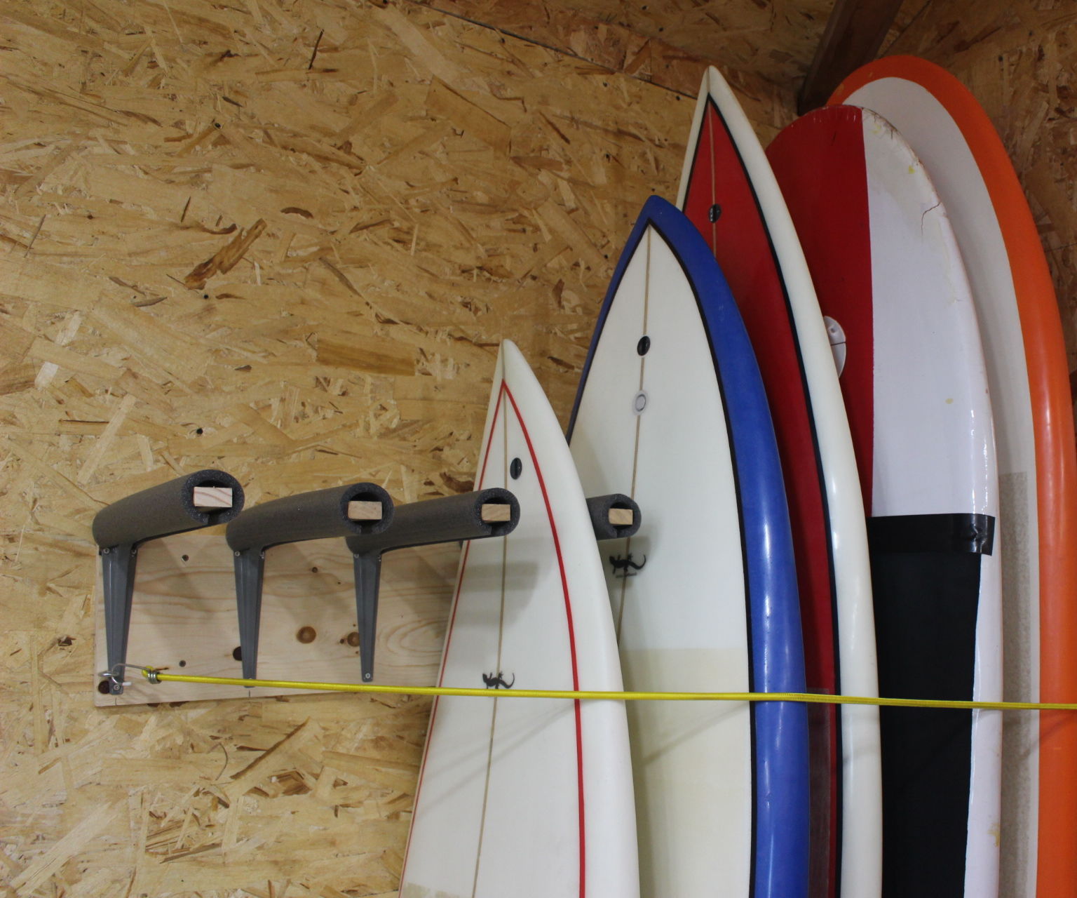 diy surfboard rack 5 steps with