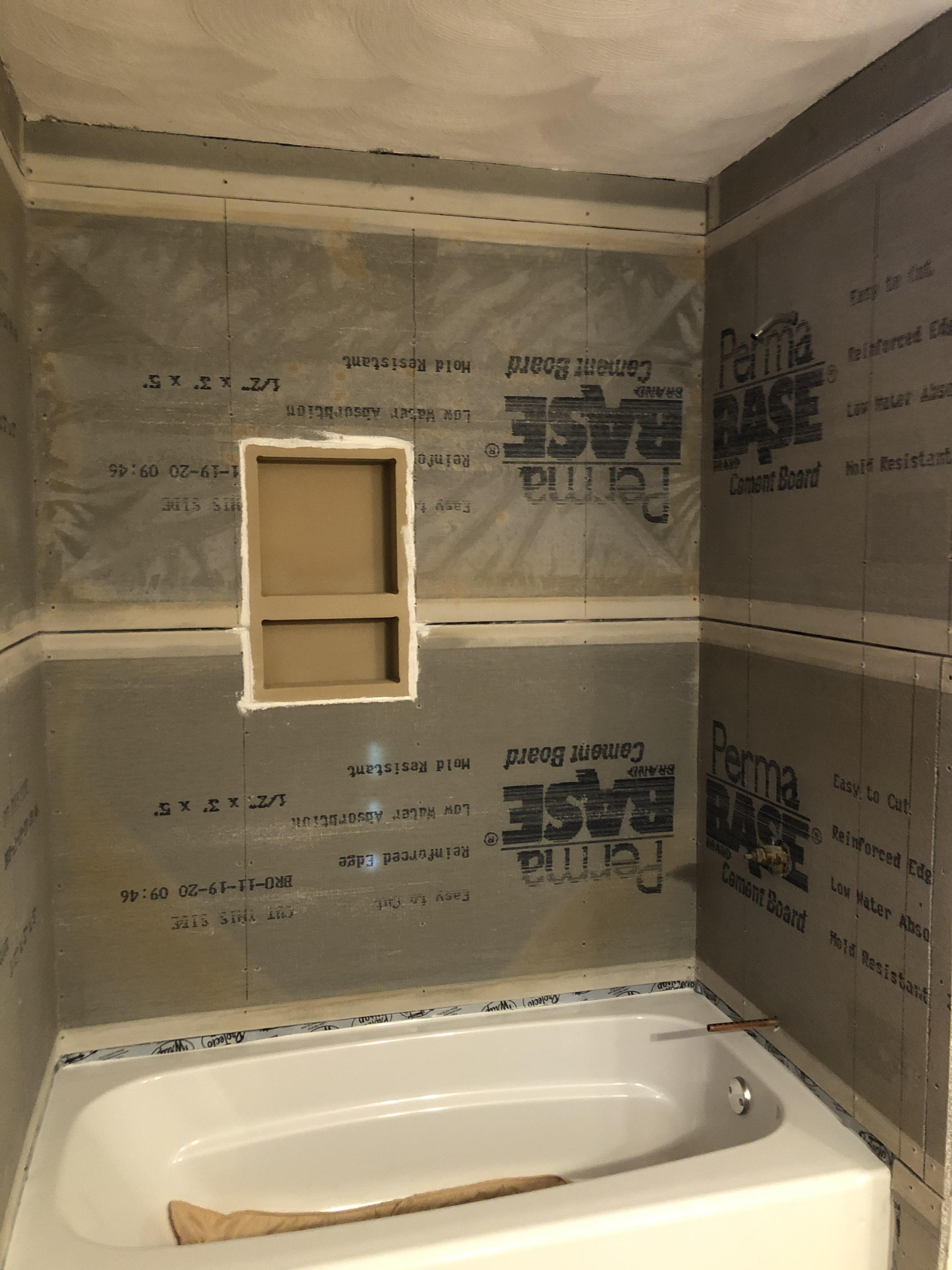 how to tile a shower niche 14 steps