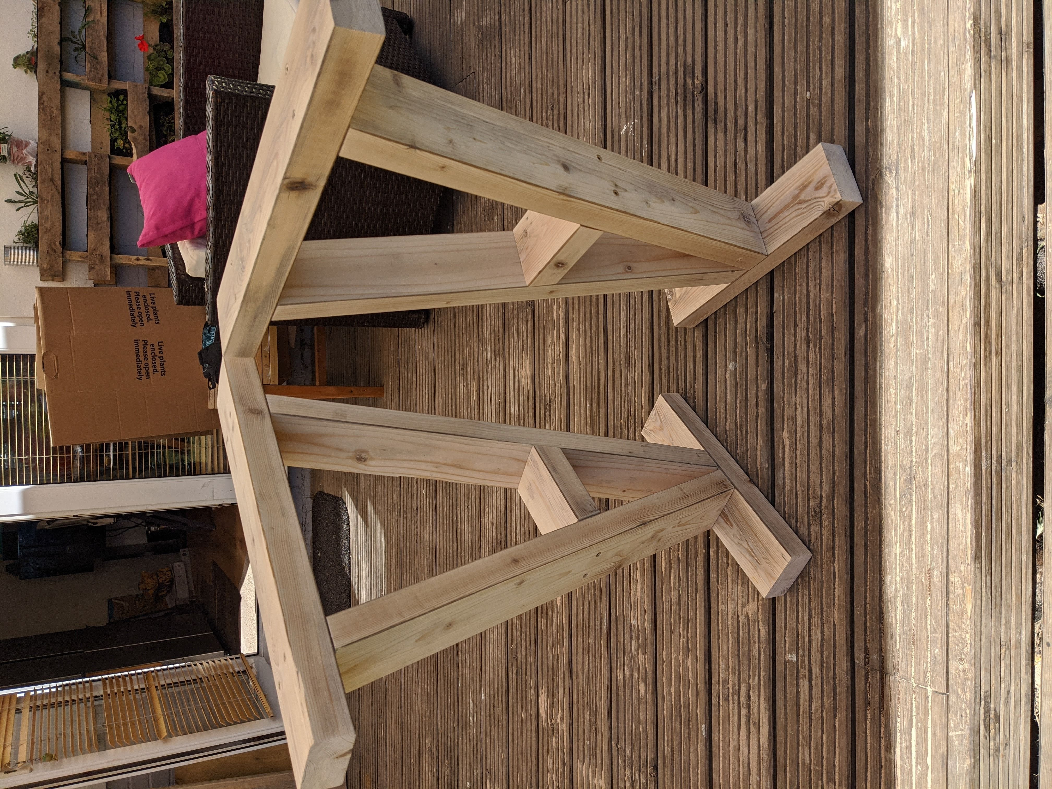 table legs from reclaimed 2x4 6 steps