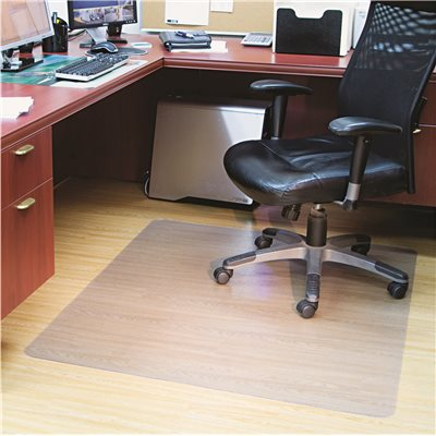 clear chair mat church chairs direct part for hard floors rectangle 46w x 60l