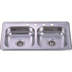 33x19 Kitchen Sink Mexican Backsplash Tiles National Brand Alternative Part Ktd33198h4 Double Bowl 33 X 19 8 4 Hole