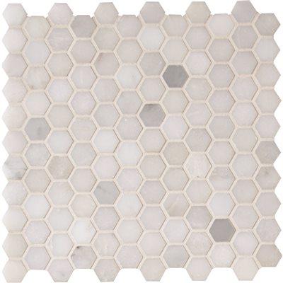 msi greecian white mini 1 in hexagon