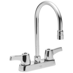 Kitchen Faucet Spout Small Cabinets Delta Part 27c4843 2 Handle Standard With Gooseneck In Chrome