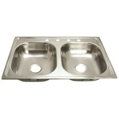 33x19 Kitchen Sink Complete Outdoor Kits Proplus Part 81651426459 4 Hole Double Basin For Mobile Homes 20 Gauge