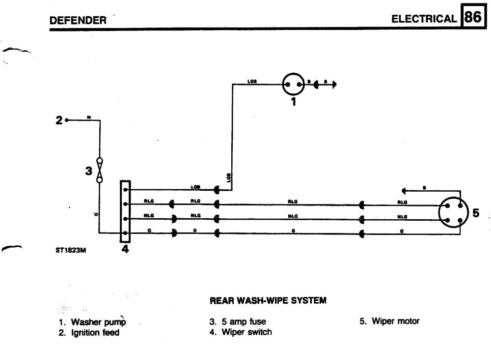 medium resolution of defender wiper motor wiring diagram schema wiring diagram mix rear wiper motor wiring defender forum lr4x4