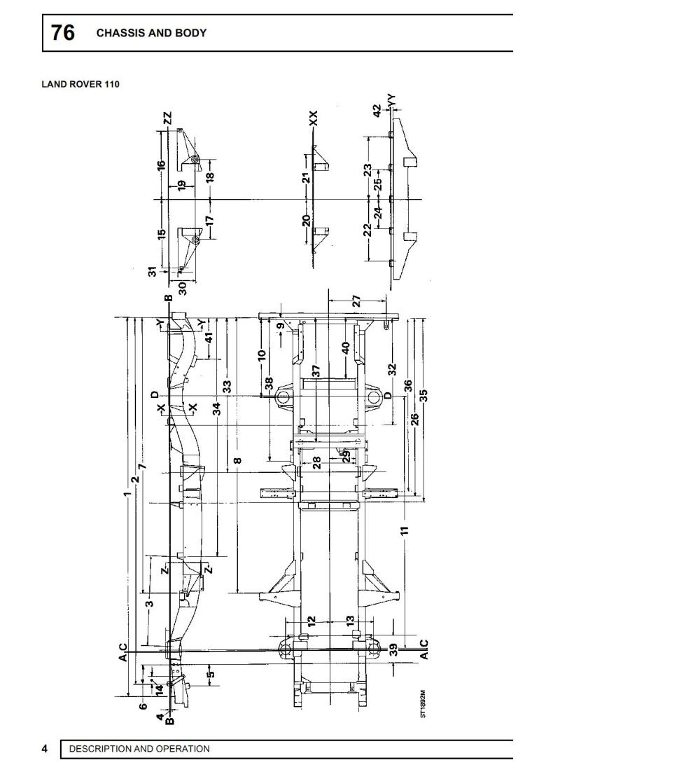 medium resolution of land rover defender chassis dimensions