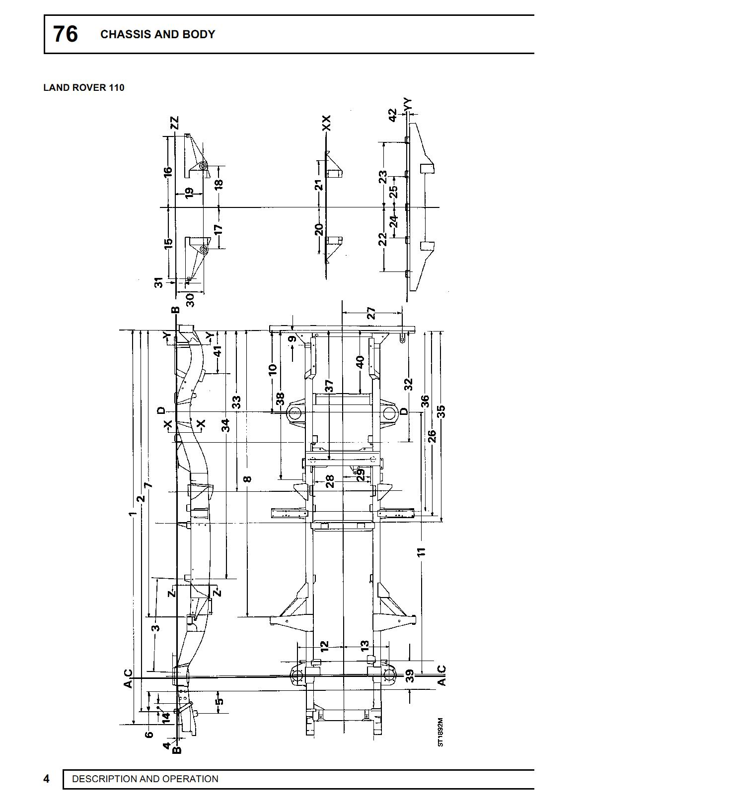 hight resolution of land rover defender chassis dimensions