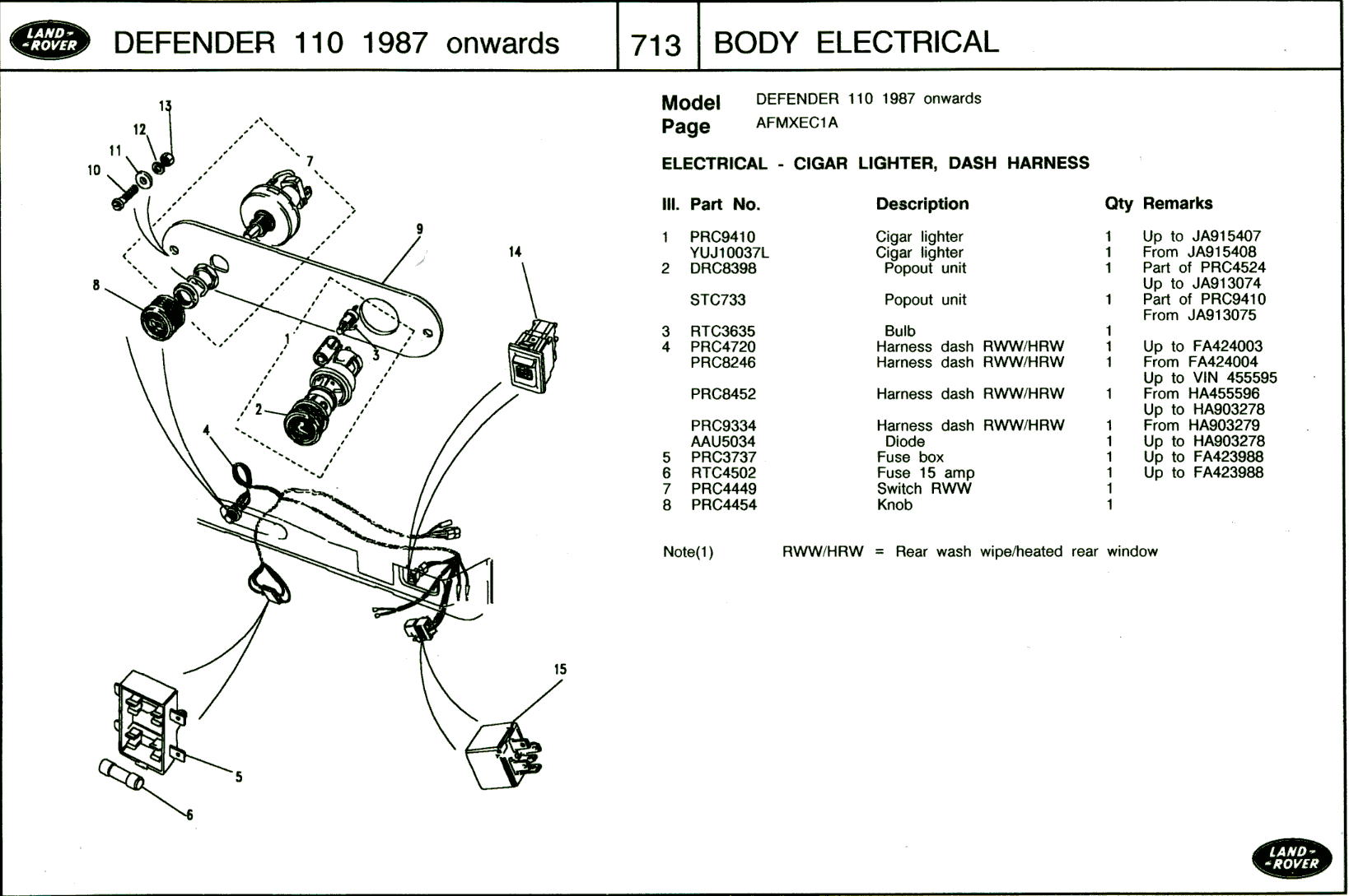 hight resolution of land rover defender heated windscreen wiring diagram wiring diagram dodge challenger wiring diagram land rover defender