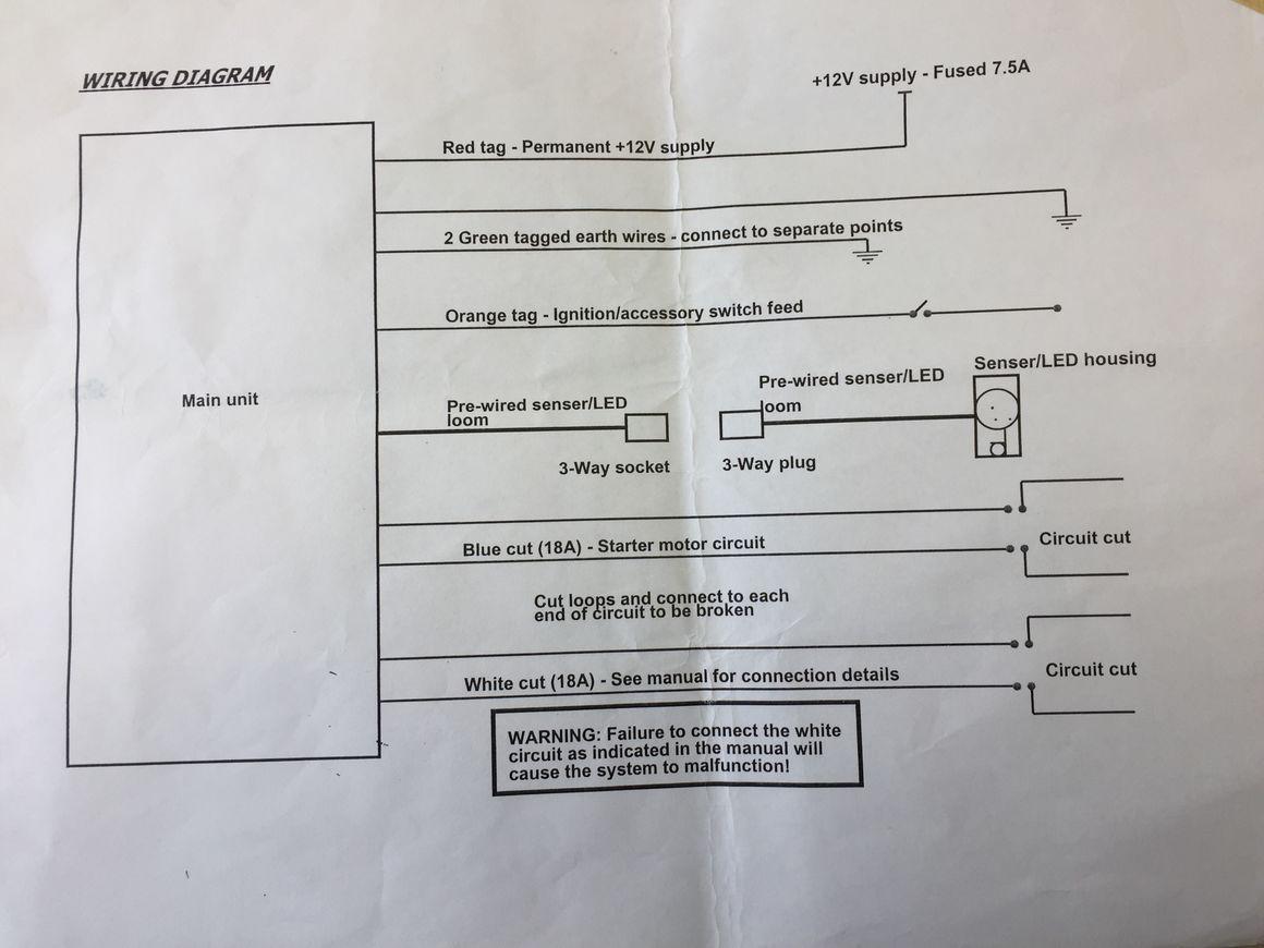 hight resolution of  diagram 2005 sterling truck wiring adding toad immobiliser to defender td5 defender forum lr4x4