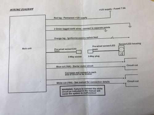 small resolution of  diagram 2005 sterling truck wiring adding toad immobiliser to defender td5 defender forum lr4x4