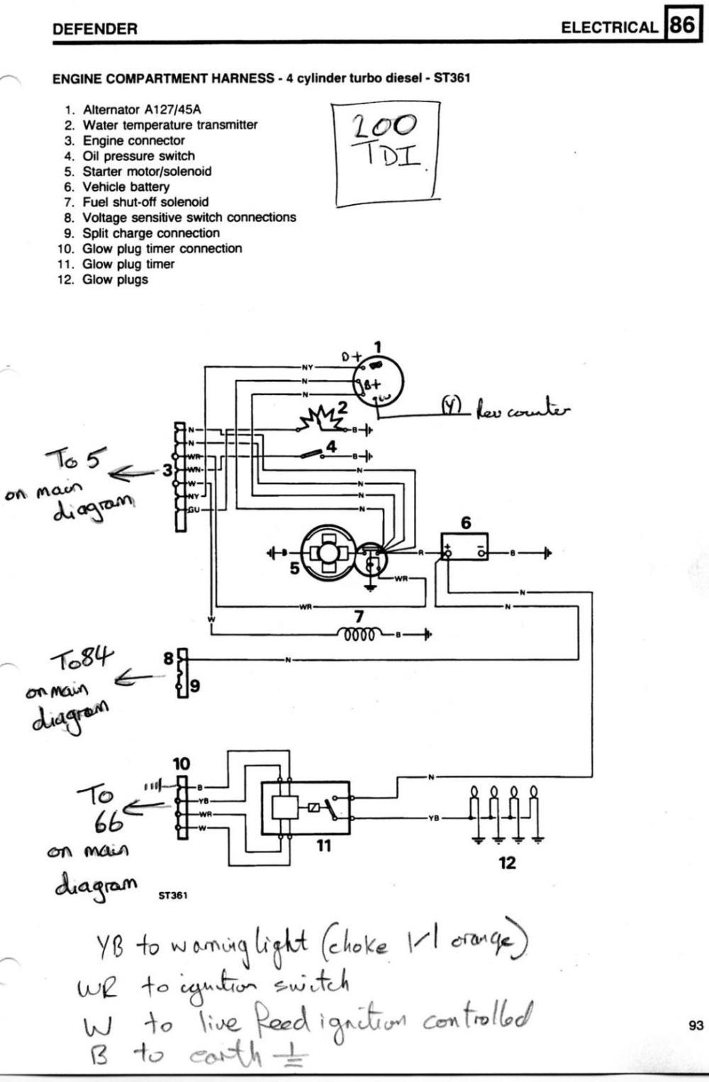 medium resolution of defender wiring defender forum lr4x4 the land rover forum defender 110 200 tdi engine wiring diagram