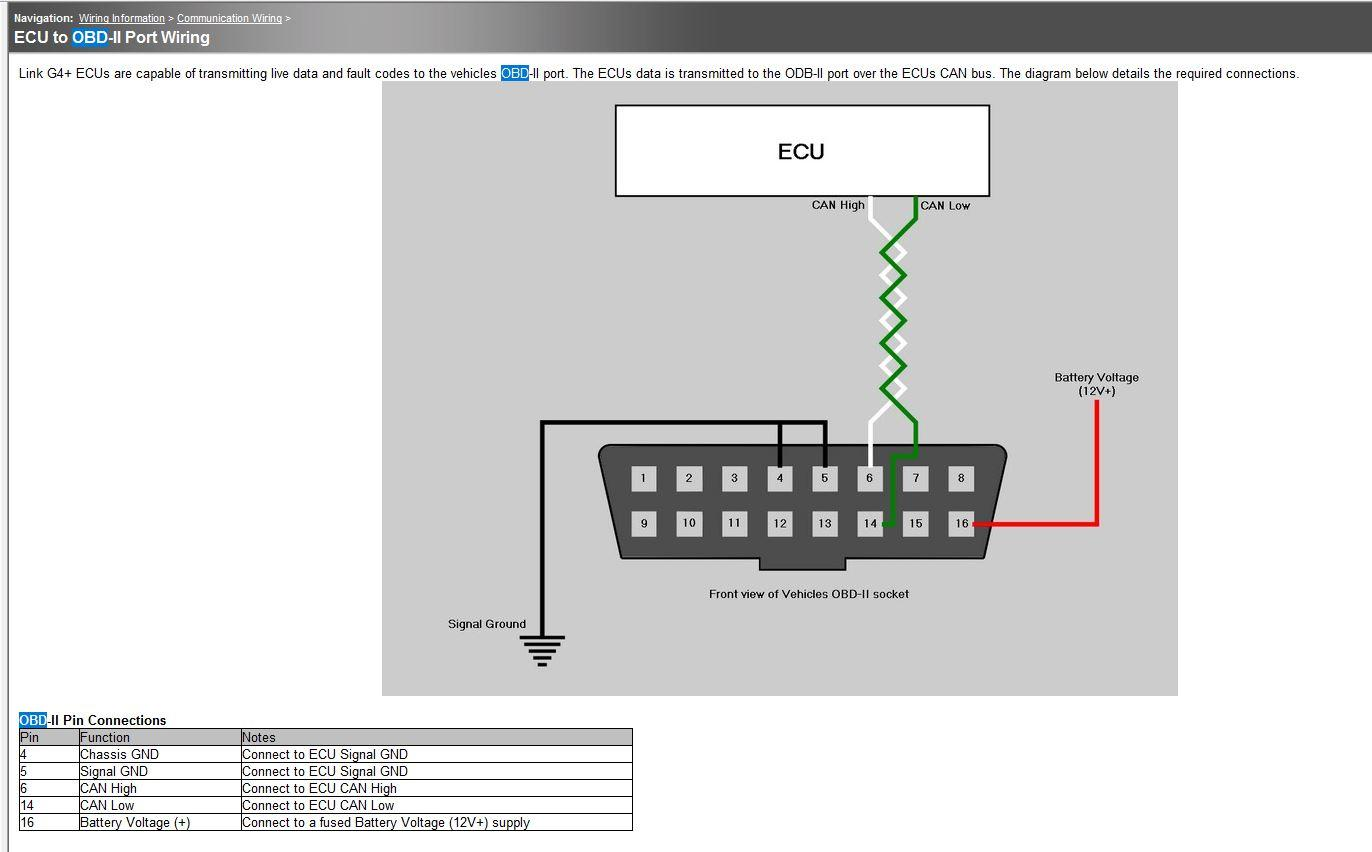 hight resolution of can to obd2 on evo 8 g4 link engine management obdwire