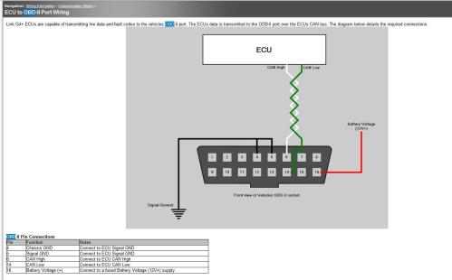 small resolution of can to obd2 on evo 8 g4 link engine management obdwire