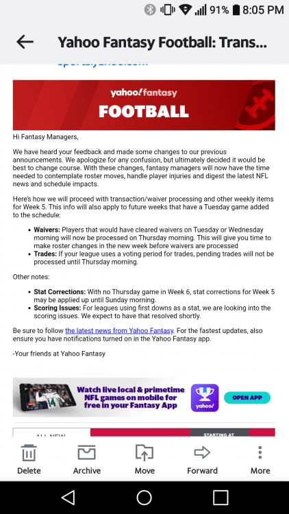 Yahoo Fantasy Football Waiver Rules : yahoo, fantasy, football, waiver, rules, Yahoo, Process, Waivers, Thursday, Fantasy, Football, Advice, Huddle, Forums