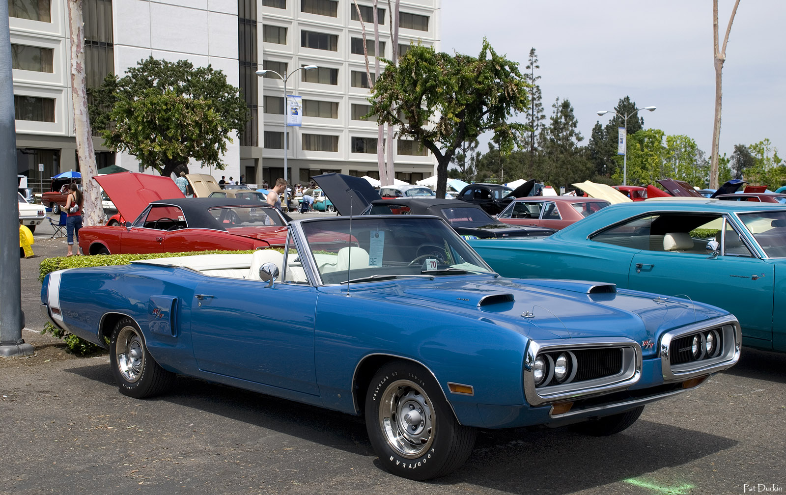 hight resolution of 1970 dodge coronet rt convertible with top down white over bright blue po
