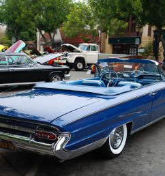 1961 buick electra 225 convertible with top down dk met blu rvr [ 1600 x 1072 Pixel ]