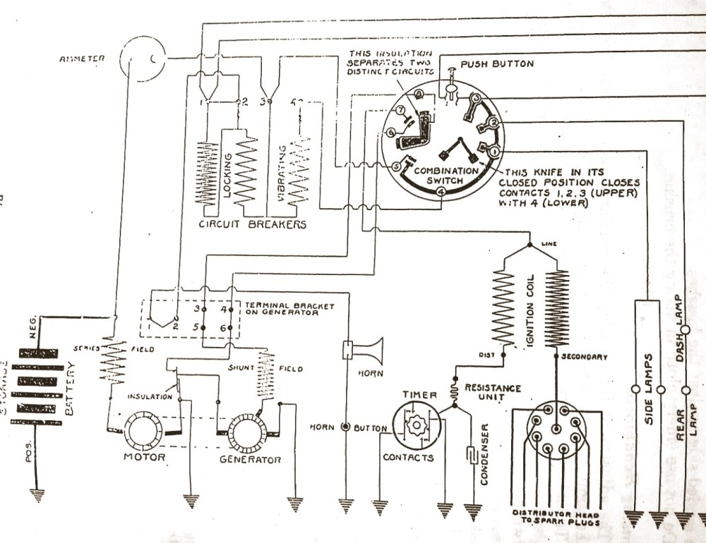 medium resolution of delco 1920 starter generator question buick pre war technical wiring diagrams of 1921 buick model 6 21 delco equipment