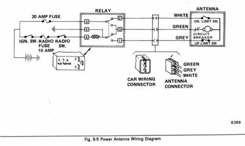 1989 buick reatta power antenna replacement  wiring help