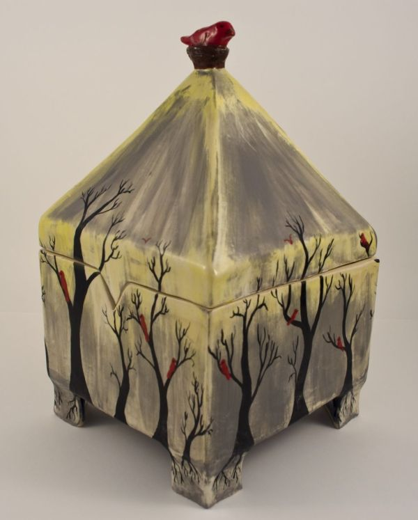 Misty Day Pyramid Box - Browse Member Galleries Ceramic