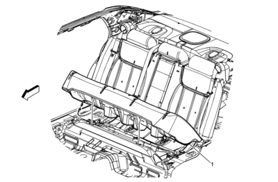 Service manual [1997 Cadillac Deville Back Seat Removable