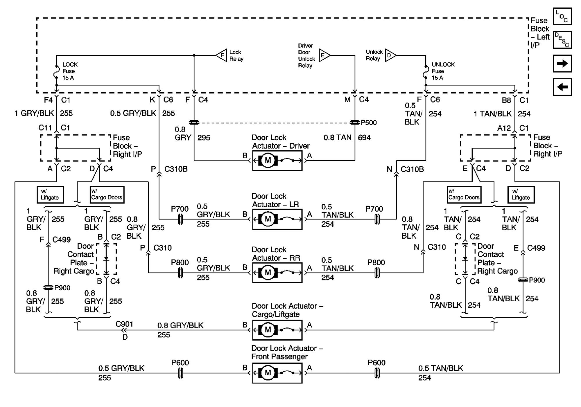 hight resolution of 2002 escalade door lock actuators png