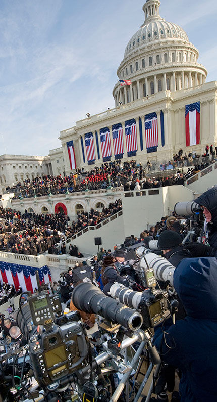 The Inauguration of Barack Obama: logistics & perspectives from a photographer's point of view