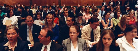 Can you identify the health care lobbyists in this photo?