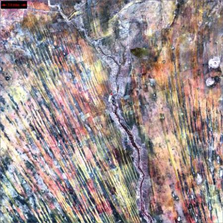 30 abstract satellite images of the earth