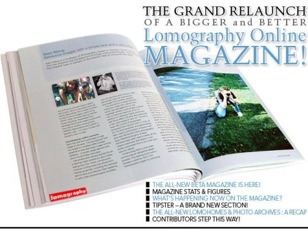 The grand relaunch of a bigger and better Lomography Online Magazine
