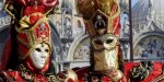 Venice Carnival 2010: masks and the flight of the angel in pictures