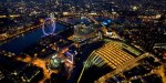More pictures of London from above at night by Jason Hawkes