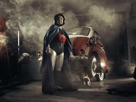 Grandma's Superhero Therapy – fun photos by Sacha Goldberger