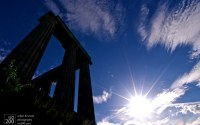 Photo blog photo: 'Calton Hill sunburst'