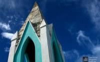Photo blog photo: 'Sea green church spire'