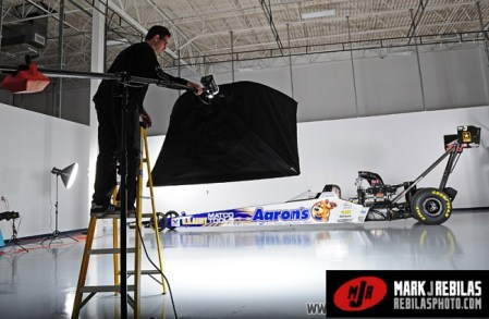Behind the scenes of Aarons NHRA portrait shoot