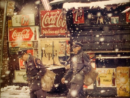 1950s colour photographs of New York by Saul Leiter