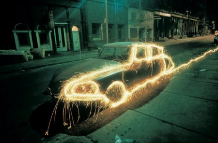 Beautiful 1970s light painting photos from New York