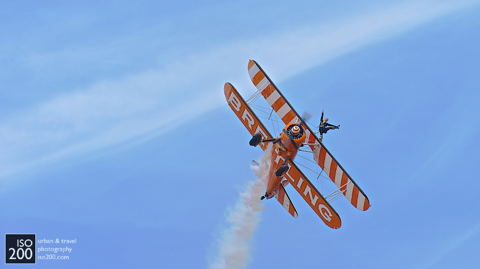 Solo Breitling wing-walker, East Fortune Airshow, National Museum of Flight.